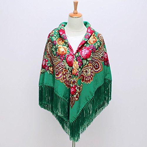 (FLYRCX Autumn and Winter Fashion Warm Fringed Scarf Ladies Multipurpose Shawl 135cmx135cm,C )