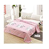 """KFZ Quilt Comforter Cotton Bedspread for Bedding Set Breathable Ultrasound Quilted Quilt HDD Twin Full Queen Popular Cartoon Design for Adults Kids Baby 1pc (Milk Cat, Pink, Twin, 59""""x79"""")"""