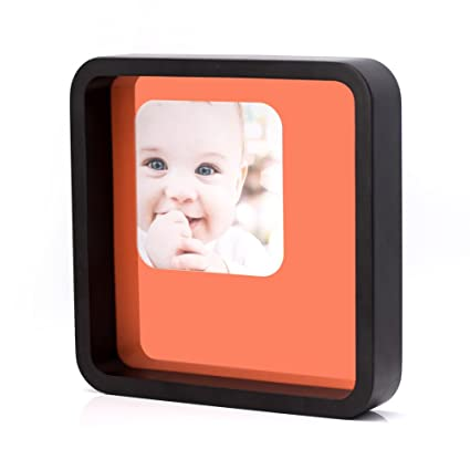 Amazon.com - 7x7 Square Black Wood Picture Frame with Glass Front ...
