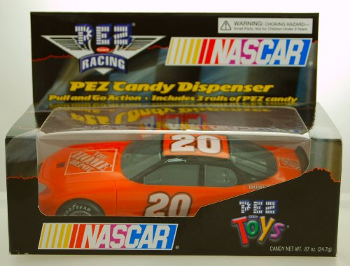 (2005 - PEZ Candy - PEZ Racing - NASCAR - Tony Stewart #20 - Home Depot Car - Pull & Go Action - Dispenser - Limited Edition - Collectible)