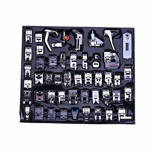 Multifuncional y profesional máquina de coser prensatelas pies 48/52 pcs Kit juego de pie para hermano mariposa cantante Acme Janome Yokoyama Juki IKEA, ...