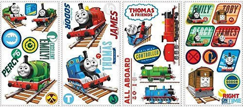 Cheap  33 New THOMAS THE TRAIN WALL DECALS Tank Engine Stickers Boys Trains..
