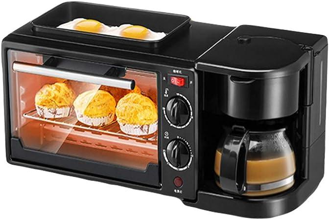 LYY Multifuncional Horno Máquina De Desayuno Tres En Uno Inicio Tostadora Automática Cafetera Omelette Microondas: Amazon.es: Hogar