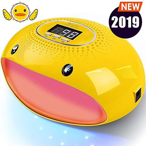 - PrettyDiva UV Nail Lamp - 54W LED UV Gel Nail Light Nail Dryer for Gel Nail Polish Curing Lamp with Auto Sensor LCD Screen for Fingernails & Toenails - Cartoon Yellow