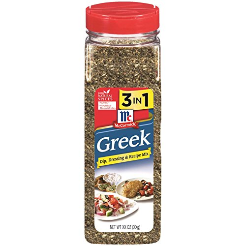 Make a Healthy Moussaka Recipe with a Gluten Free Bechamel Sauce with McCormick Greek 3 in 1 Dressing, Dip and Recipe Mix Seasoning, 15.25 ounce shaker