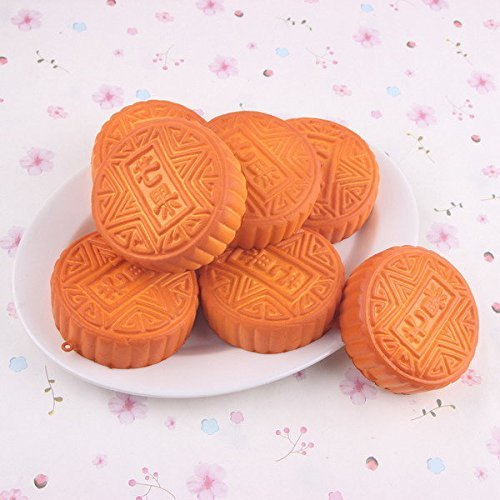 Bazaar 10PCS 7CM Random Color Squishy Simulation Moon Cake Cellphone Cream Scented Big Bazaar