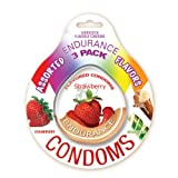 Hott Products Endurance Condoms, Assorted Flavors, 3-Pack