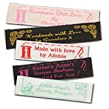 Personalized 100% Woven Sewing Labels 1'' Wide - made by Label Weavers (1000 Labels)