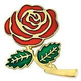 PinMart Colored Red Rose Flower Enamel Lapel Pin 1''