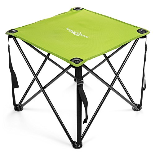 (Lucky Bums Quick Camp Table with Carrying Bag, Green)
