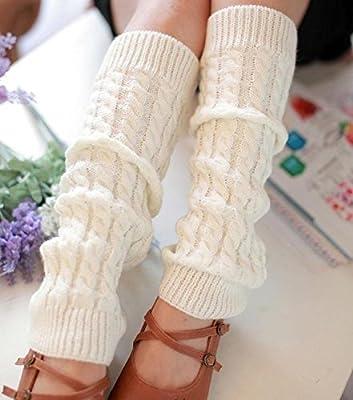 Binmer(TM)Winter Outdoor Fashion Warm Cable Knit Leg Warmers Foot Glove