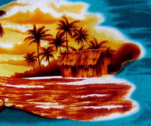 "Hawaiihemd / Hawaii Hemd ""Sunrise in Paradise"", 100% Baumwolle, Größe M - 3XL"