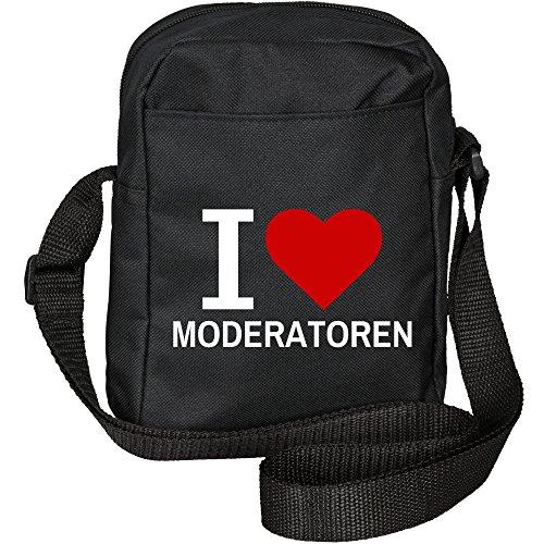 Umhängetasche Classic I Love Moderatoren schwarz