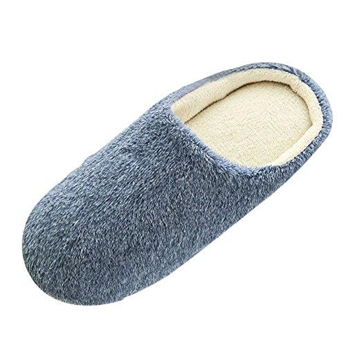 SAGUARO Women Men Winter Warm Plush Slippers Indoor Anti-Slip Cotton-Padded...