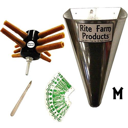 L10 RITE FARM DRILL CHICKEN PLUCKER KIT MEDIUM KILL CONE 10 BLADES & SCALPEL POULTRY