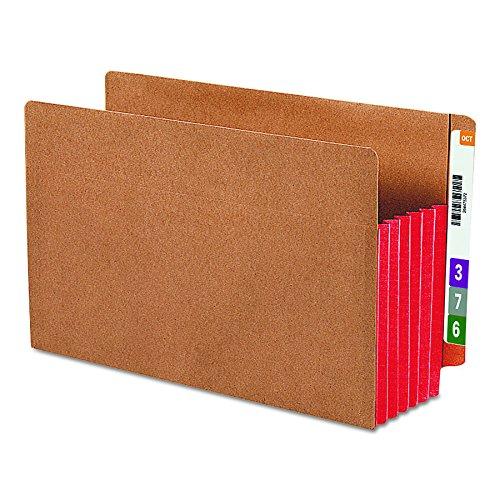 Smead End Tab File Pocket, Reinforced Straight-Cut Tab, 5-1/4