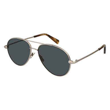 5fbc43a40f71b Image Unavailable. Image not available for. Color  Brioni BR0034S-002  Silver Aviator Sunglasses for Mens