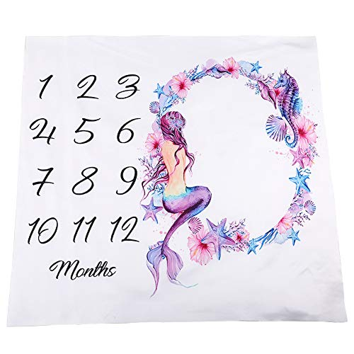 (Starte Monthly Baby Milestone Blanket Photography Background for Infant Newborn Baby Swaddling Month Blanket 40