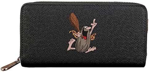 Men's & Women's Caltech Torch PU Leather Long Purse Zipper Wallet Money Clip Card Case