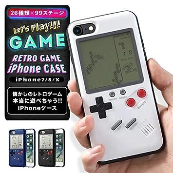 07c86f7875 Amazon | 日本語説明書付き ゲームボーイ 風 iPhone ケース 実際に遊べる ...