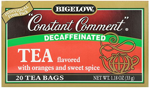 Bigelow Decaffeinated Constant Comment Tea, 20 ct (Flavored Spice Tea Black Orange)