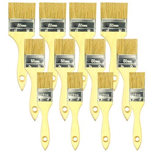 KINGORIGIN 12 Piece paint brush paint brushes paintbrushes wood handle paint brush (Rot Terminator)