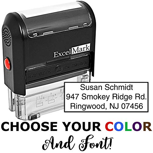 Custom Self Inking Rubber Stamp - 3 Lines -