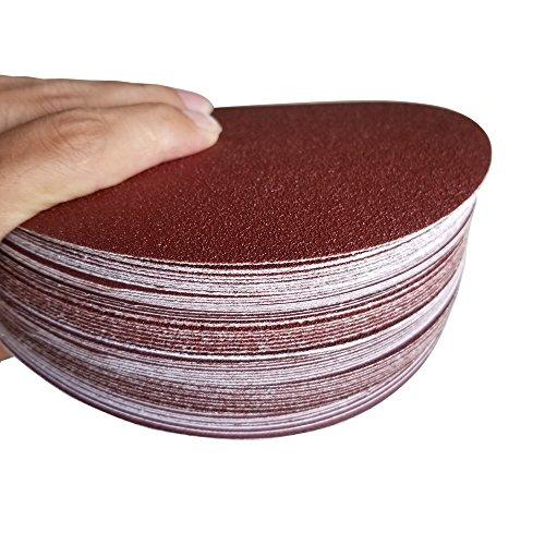 Sackorange 60 PCS 6-Inch NO-Hole PSA Aluminum Oxide Sanding Disc, Self Stick(10 Each of 80 100 120 180 240 400) by SACKORANGE (Image #5)