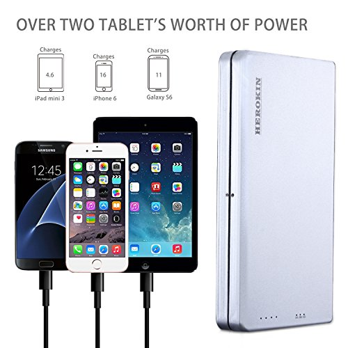 HEROKIN 45000mAh Multi Voltage 5 12 20v handheld Charger External Battery electricity Bank for Laptop Notebook most of Sony Dell Hp Toshiba Samsung Lenovo Acer IBM NEC MobileTablet Chargers Adapters