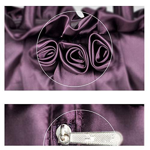 de 8x5inch Femme C D Plissé Classique Crossbody d'autres Jours Main Et Fleur fériés Sac Sacs soirée de Élégant soirée Parti à pour Color Bal Pochette 21x12cm Solid 6px6rF4
