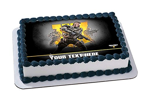 EdibleInkArt Call of Duty Black Ops IV Edible Cake Topper Personalized Birthday 1/4 Sheet Decoration Custom Sheet Party Birthday on Wafer Rice Paper ()