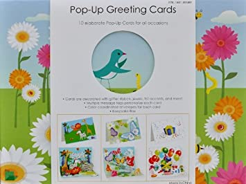 Amazon.com: 10 Elaborate Pop-Up Greeting Cards for All Occasions ...