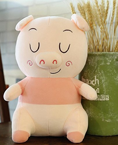 pinjewelry Home Decoration Soft Toys Smiling Pig 25cm Soft Pig Plush Toy Stuffed Pig Doll Children Gift (Pink) by Pinjewelry