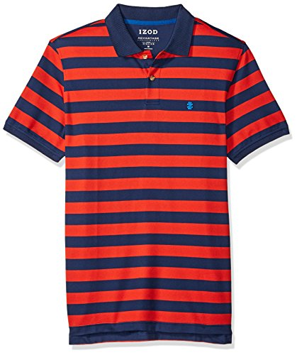 IZOD Mens Advantage Performance Stripe Polo