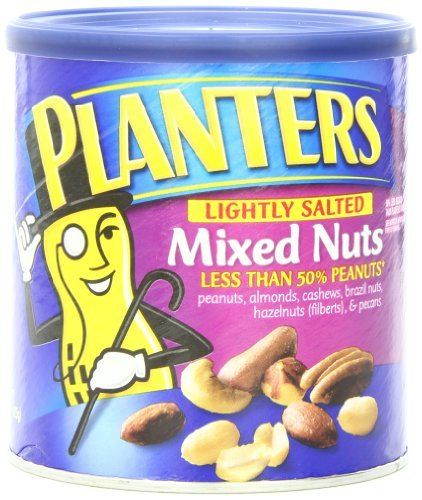 - Planters Mixed Nuts, Lightly Salted, 15-oz. (Count of 3) by Planters