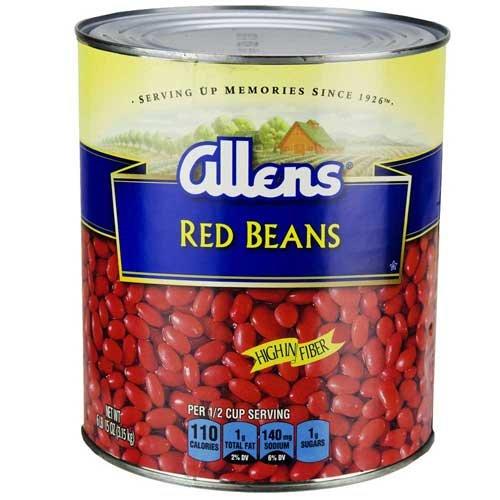 Allen Red Beans, 111 Ounce Can - 6 per case.