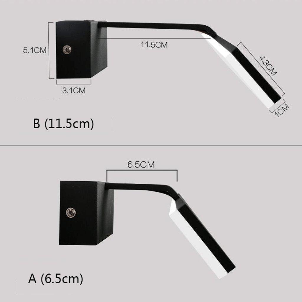 Weiãÿb (11.5cm)-10w62cm QZz Home® LED wasserdicht Anti-fog Acryl Backen Finish Eisen Spiegel Licht Badezimmer Spiegel Kabinett Lichter (Farbe   Weiß-B (11.5cm)-10w62cm)