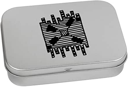 'Abstract Fan' Metal Hinged Tin / Storage Box (TT00131956)