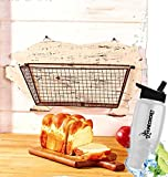Gift Included- Barnyard Animal Country Farmhouse Themed Kitchen Storage & Organization Wall Baskets Pig + FREE Bonus Water Bottle by Homecricket