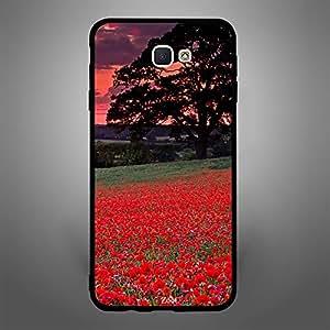 Samsung Galaxy J7 Prime Red Garden Dark Clouds
