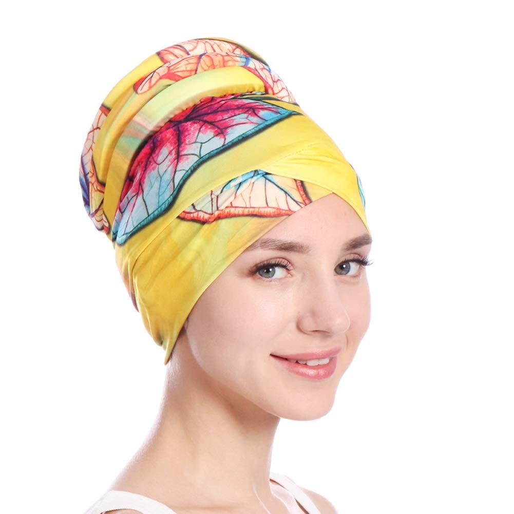 Ysoutstripdu coloré Femme musulmane islamique hijab Turban Chapeau  couvre-chefs Écharpe chimio Coque Cap Cadeau rose rouge 9289fecf2ef