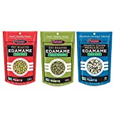 Seapoint Farms All Natural Gluten Free Dried Edamame Snack 3 Flavor 6 Bag Variety Bundle