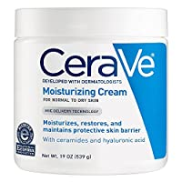CeraVe Moisturizing Cream 19 oz Daily Face and Body Moisturizer for Dry Skin