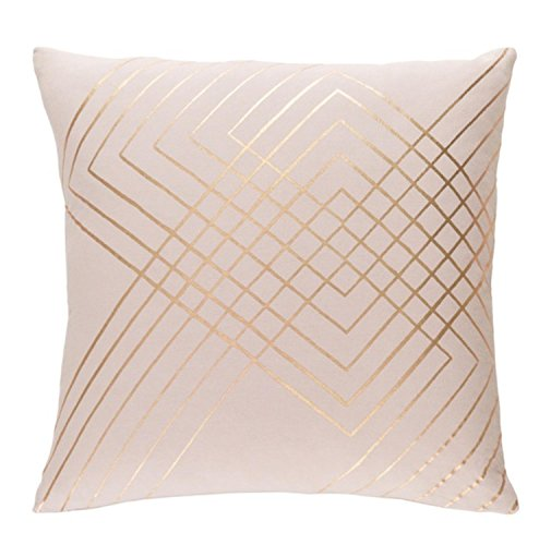 "Diva At Home 22"" Blush Pink and Rust Golden Brown Woven Deco"