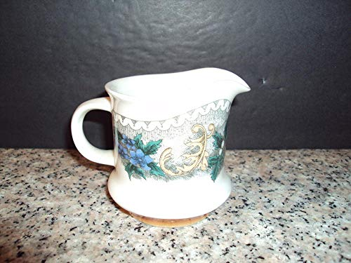 Beautiful Goebel Creamer with Intricate Floral Design 531 W. Germany (Fenton Glass Creamer)