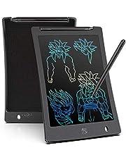 LCD schrijftablet 8.5 inch, draagbaar, Kleurrijk, ultra dun papier drawing schrijfbord geschenken voor kinderen, volwassenen, Office School en Home schrijfpads (zwart)