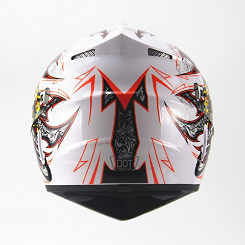 Amazon.com: Ocamo Full Protection Off Road Casco Motorcycle Moto Dirt Bike Motocross Racing Helmet White 4 S: Automotive