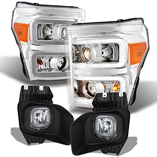 For 2011 2012 2013 2014 2015 2016 Ford F250 F350 F450 Super Duty LED Projector Headlights w/Fog ()