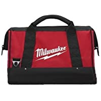 Milwaukee 17 Inch Heavy Duty Canvas Tool Bag with 6 Interior Pockets, Reinforced Bottom, and Strap Ring (Shoulder Strap…