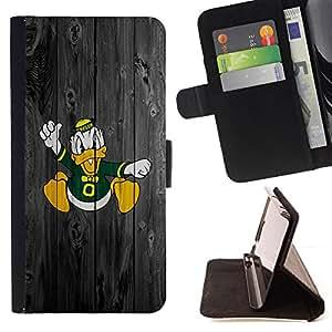 BullDog Case - FOR/LG Nexus 5 D820 D821 / - / Oregon Duck Football /- Monedero de cuero de la PU Llevar cubierta de la caja con el ID Credit Card Slots Flip funda de cuer